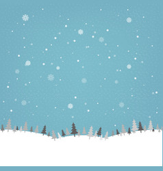 vintage winter poster vector image