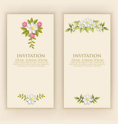 wedding invitation card invitation vector image vector image