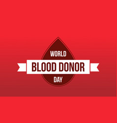 World blood donor day background collection vector