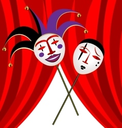 Two masks clown vector
