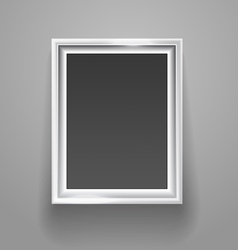 Empty picture frame on the wall template vector