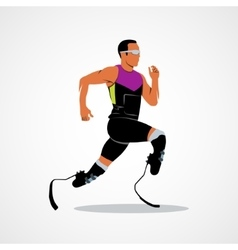 athlete runner Icon vector image