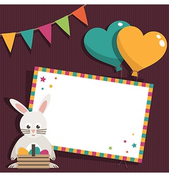 Easter invite vector