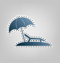 tropical resort beach sunbed chair sign vector image