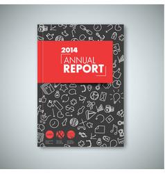 Modern red abstract brochure book flyer design vector