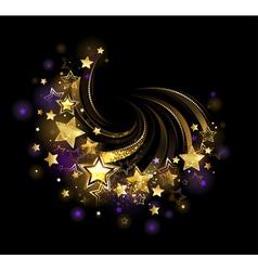Flying gold star vector