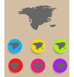 Alaska map - icon isolated vector