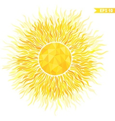 Summer sun with sunburst and geometric pattern vector