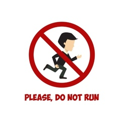 No run sign flat vector