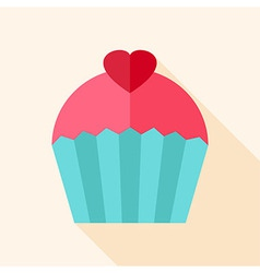 Sweet cute cupcake vector