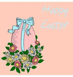 Hand-drawn easter egg vector