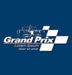 Logo grand prix racing event vector
