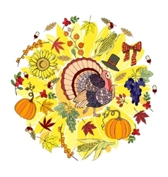Thanksgiving day and harvest vector
