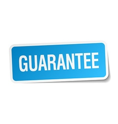 Guarantee blue square sticker isolated on white vector