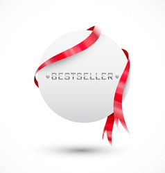 Blank sale tag Circle paper vector image