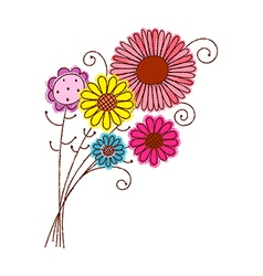 A bunch of flowers vector image vector image