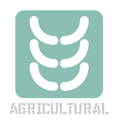 Agricultural conceptual graphic icon vector