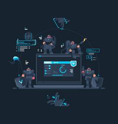 antivirus computer security vector image vector image