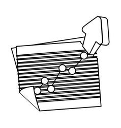 arrow up increase vector image vector image