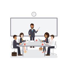 Businessmen and businesswomen meeting vector