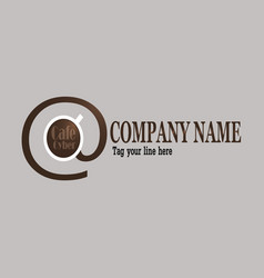cyber coffee cup logo vector image