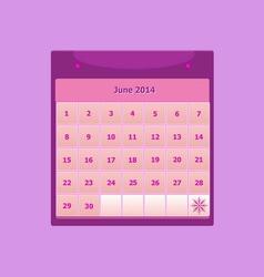Design schedule monthly june 2014 calendar vector