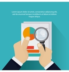 Document and lupe icon Tax and Financial item vector image vector image