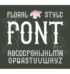 Floral vintage style font elegant flower vector