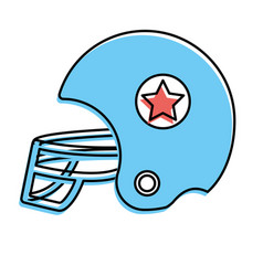Football helment to uniform to play sport vector