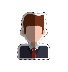 frame businessman faceless picture vector image vector image