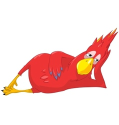 Funny Parrot Relaxation vector image