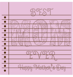 Greeting card mother day theme collection vector