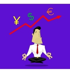 Guru of exchange rates vector image vector image