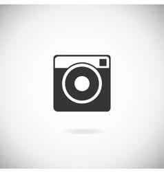 Hipster photo camera icon vector