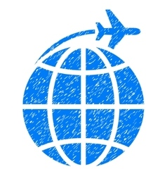 International Flight Grainy Texture Icon vector image