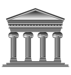 Ionic temple vector image vector image