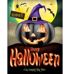 Jack-o-lantern smiling EPS 10 vector image vector image