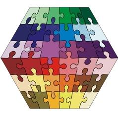 Jigsaw puzzle cuboid vector