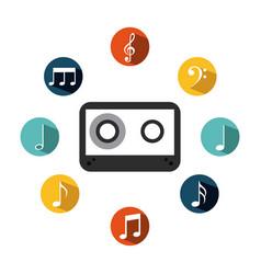 music casette icon vector image