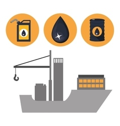 oil and petroleum industry design vector image vector image