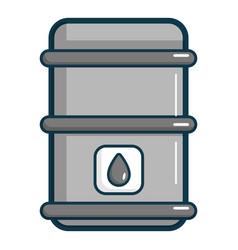 oil barrel icon cartoon style vector image