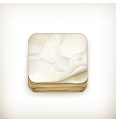 Old paper app icon vector image