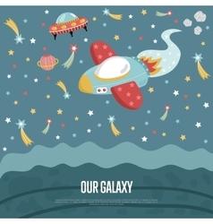 Our Galaxy Conceptual Web Banner vector image
