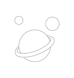 Saturn planet icon isometric 3d styl vector image