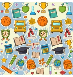 School pattern on blots vector image vector image