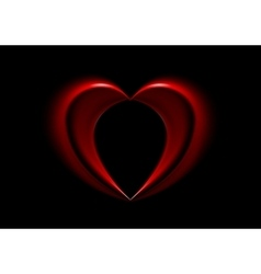 Smooth blurred red heart background vector image