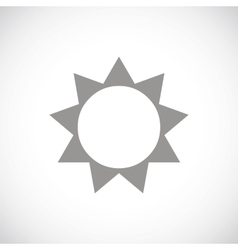 Sun black icon vector