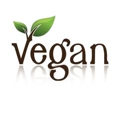 Vegan logo vector