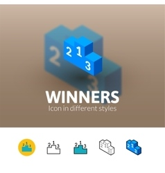 Winners icon in different style vector