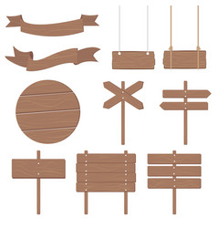 wooden signboards other vector image